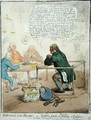 Effusions of the Heart or Lying Jack the Blacksmith at Confession - James Gillray