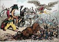 The State of War or The Monkey Race in Danger - James Gillray