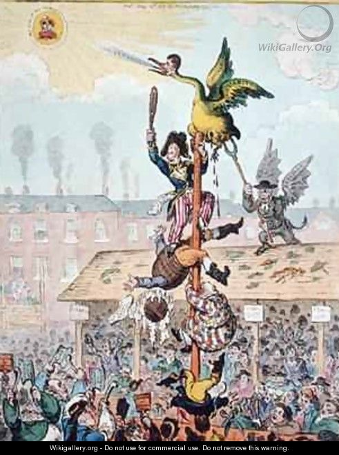Election Candidate or the Republican Goose at the Top of the Pole - James Gillray