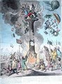 Siege de la Colonne de Pompee or Science in the Pillory - James Gillray