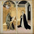 St Catherine of Siena Dictating Her Dialogues - Paolo di Grazia Giovanni di
