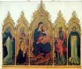 Madonna and Child with SS Dominic Peter Paul and Thomas Aquinas altarpiece - Paolo di Grazia Giovanni di