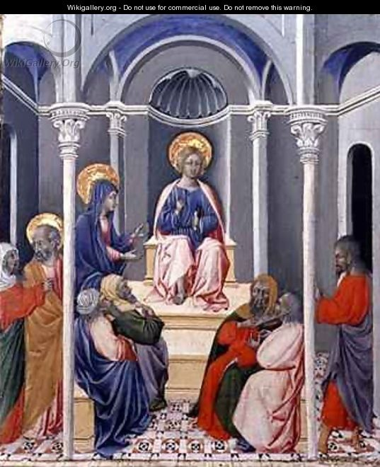 The Infant Christ Disputing in the Temple - Paolo di Grazia Giovanni di