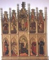 Polyptych of Gualdo Tadino with Virgin Enthroned Crucifixion and Saints - Girolamo Giovanni
