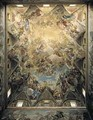 The Celestial Glory and the Triumph of the Habsburgs from the ceiling above the grand staircase - Luca Giordano