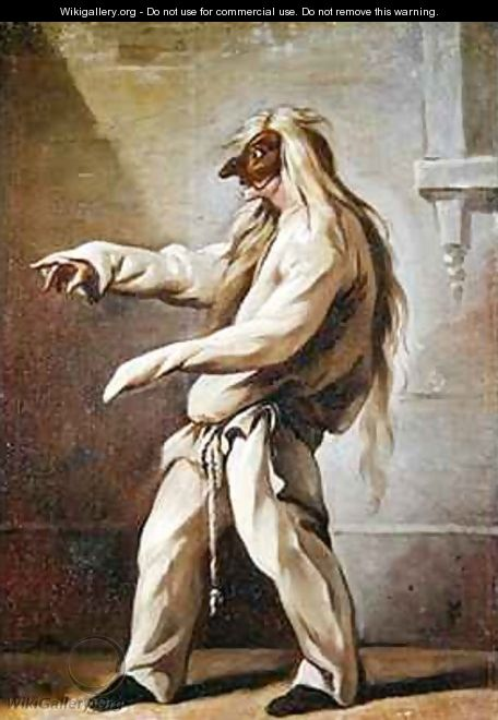 Character from the Commedia dellArte - Claude Gillot