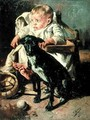 The Baby and its good companion - Francisco Gimeno y Arasa