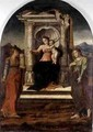 Madonna Enthroned with St Barbara and St Lucia - Stefano Giordano