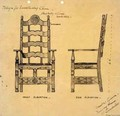 Design for Sanctuary Chair - Ernest William Gimson