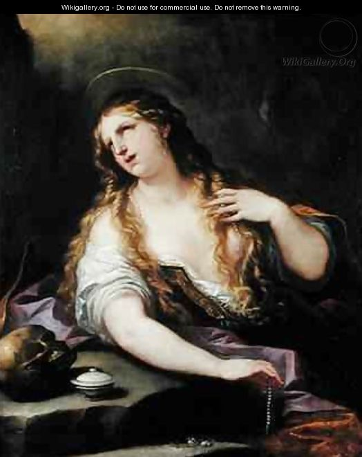 St Mary Magdalene Renouncing the Vanities of the World - Luca Giordano