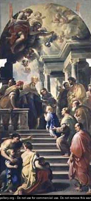 The Presentation of the Virgin at the Temple - Luca Giordano