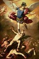 Archangel Michael overthrows the rebel angel - Luca Giordano
