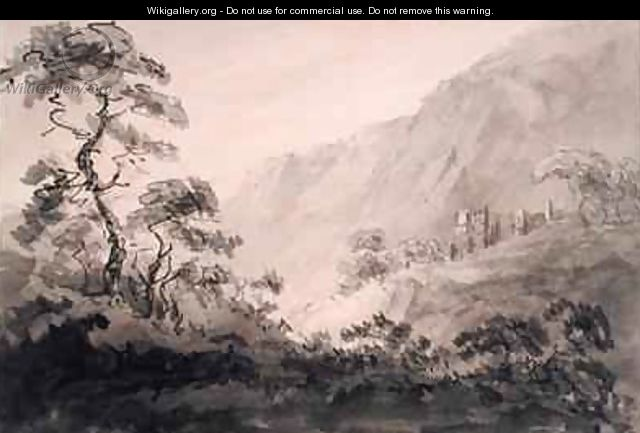 Mountainous Landscape with Ruin - Rev. William Gilpin