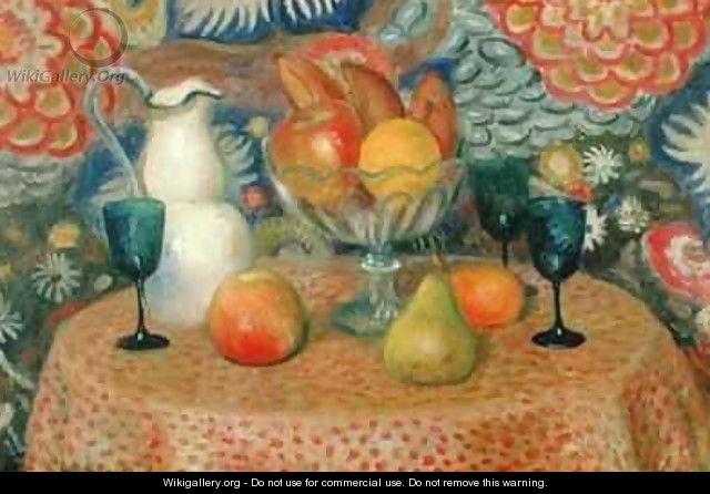 Still Life with Three Glasses - William Glackens