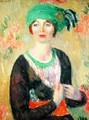 Girl with Green Turban - William Glackens