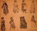 Two Rows of Separate Figures - William Glackens