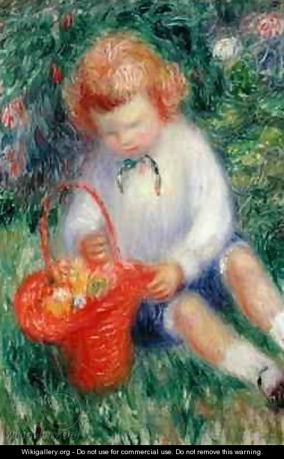 Lenna with a Basket of Flowers - William Glackens