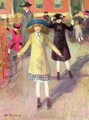 Children Roller Skating - William Glackens