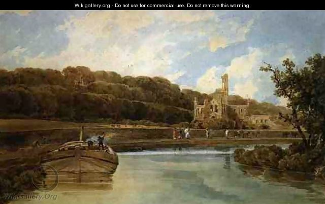 Kirkstall Abbey Yorkshire 2 - Thomas Girtin