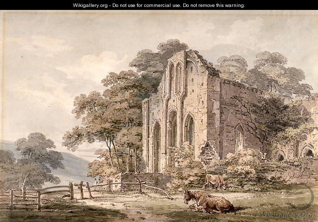 Valle Crucis Abbey Denbighshire North Wales - Thomas Girtin