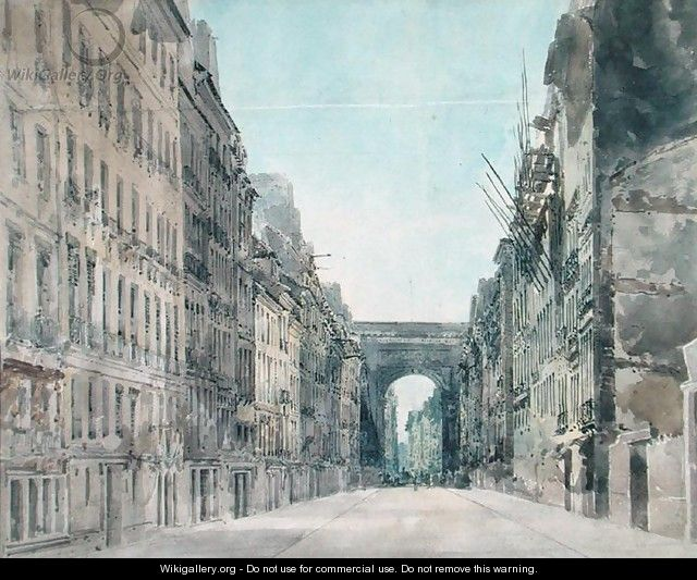Rue and Porte St Denis Paris - Thomas Girtin