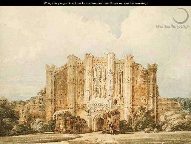 West view of Thornton Abbey Lincolnshire - Thomas Girtin