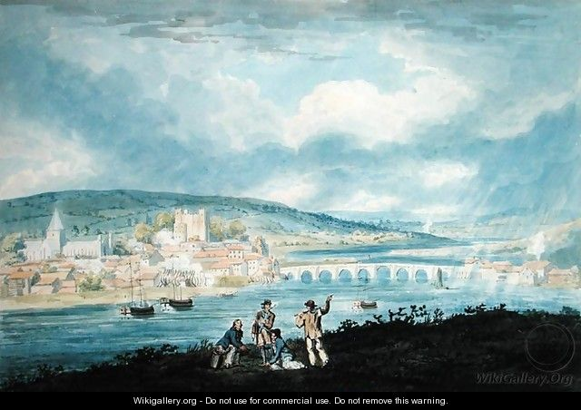 Rochester from the North - Thomas Girtin
