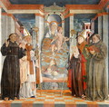 The Virgin Enthroned with a Franciscan Bishop and Saints Anthony Francis and Prosdocimo - da Treviso the Elder Girolamo