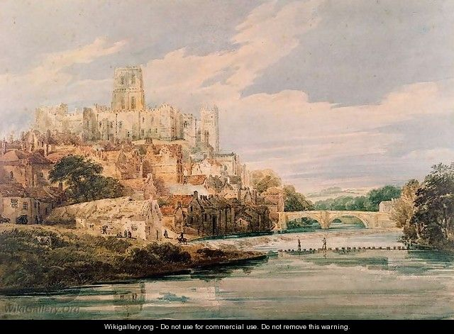 Durham Castle and Cathedral - Thomas Girtin