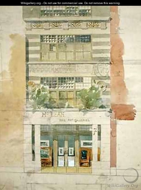 Design for the facade of McLean Fine Art Galleries Haymarket London 2 - Edward William Godwin