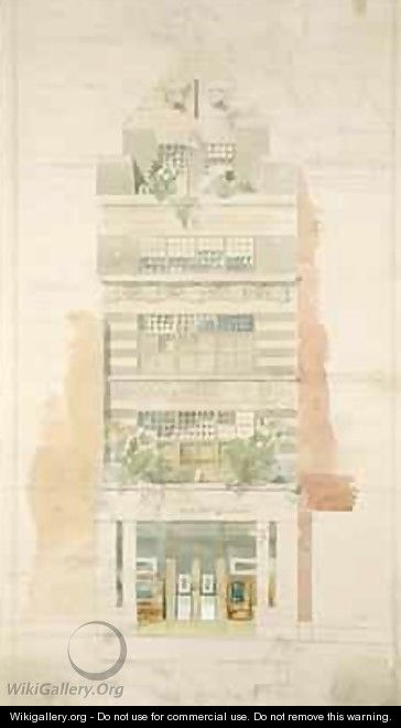 Design for the Facade of McLean Fine Art Galleries Haymarket London - Edward William Godwin