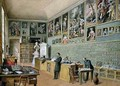The Library in use as an office of the Ambraser Gallery in the Lower Belvedere - Carl Goebel