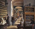 The second room of Egyptian antiquities in the Ambraser Gallery of the Lower Belvedere - Carl Goebel