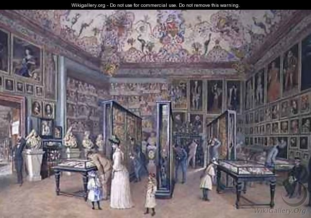 The Genealogy Room of the Ambraser Gallery in the Lower Belvedere - Carl Goebel