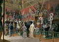 The first Armoury Room of the Ambraser Gallery in the Lower Belvedere - Carl Goebel