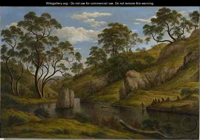 The Bath of Diana Van Diemens Land - John Glover