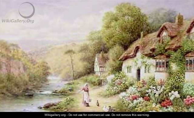 Cottages by a Stream - A.N. Glover