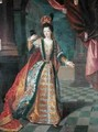 Portrait of a Woman in a Ball Gown - (attr. to) Gobert, Pierre
