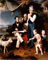 Group Portrait including the artist George Dawe 1781-1829 and a self portrait - Vasili (Wilhelm-August) Aleksandrovich Golike
