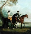 The Hon Marcia Pitt Riding with her Brother the Hon George Pitt later 2nd Lord Rivers in the Park of Stratfield Saye House - Thomas Gooch