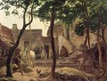 Farmyard near Sorrento - Carl Wilhelm Goetzloff