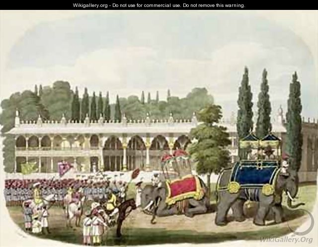 The Palace of Tippoo Sahib 1749-99 - (after) Gold, Charles Emilius