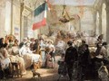 Queen Marie Amelie 1782-1866 Visiting the Wounded at the Ambulance de la Bourse - Nicolas Louis Francois Gosse