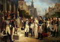 Napoleon Bonaparte 1769-1821 Receiving Queen Louisa of Prussia 1776-1810 at Tilsit - Nicolas Louis Francois Gosse
