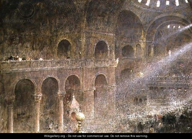 St Marks Basilica Venice from the gallery - Albert Goodwin