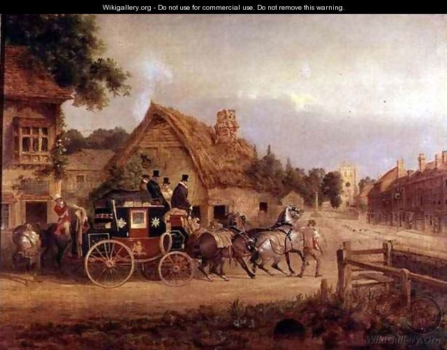 York to London stage coach setting off - Charles Cooper Henderson