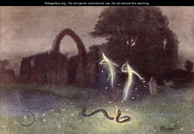 Will o the wisp and Snake - Hermann Hendrich