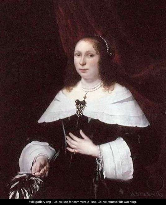 Lady in Black - Bartholomeus Van Der Helst