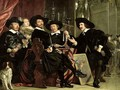The Officials of the Company of Bowyers of St Sebastian at Amsterdam - Bartholomeus Van Der Helst