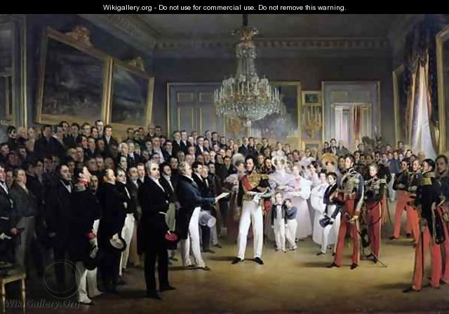 The Chamber of Deputies at the Palais Royal Summoning the Duke of Orleans - Francois - Joseph Heim